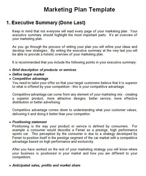 publicity strategy template sle marketing template 6 documents in pdf