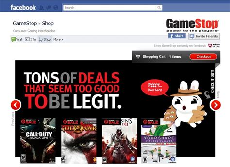 Can You Buy Stuff Online With A Gamestop Gift Card - gamestop sets up shop on facebook