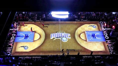 Orlando Court Search Projection Turns Entire Orlando Magic Court Into