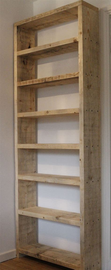 Basic wood shelves from 2x10 boards. Use wood screws
