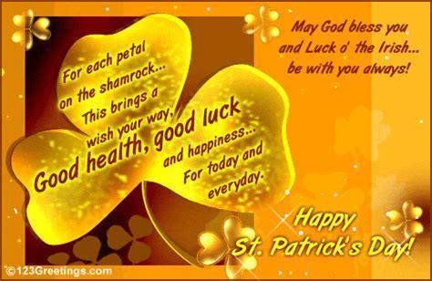 Each Petal On The Shamrock  Free Irish Blessings eCards