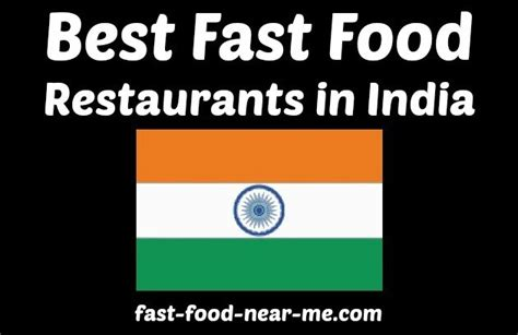 the 5 best fast food restaurants in india how to order