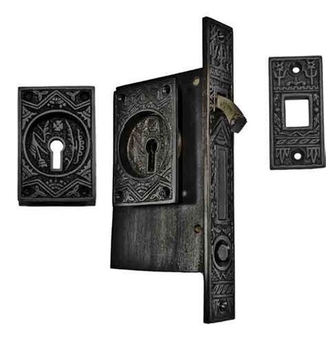 pattern lock door oriental pattern single pocket privacy lock style door