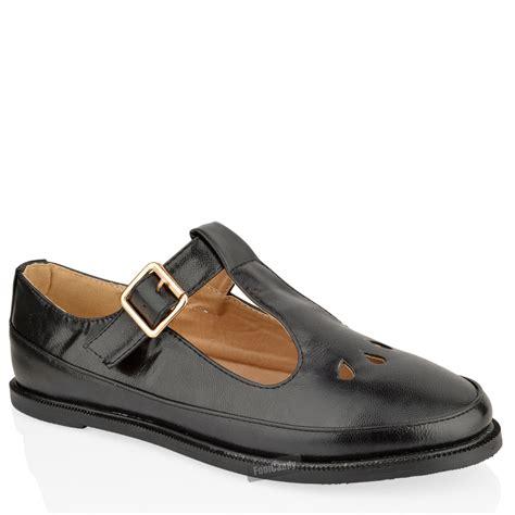 womens flat t bar shoes womens flat cut out t bar pumps