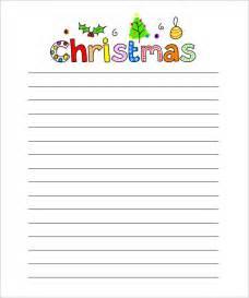 Christmas Writing Paper Templates 15 Christmas Paper Templates Free Word Pdf Jpeg