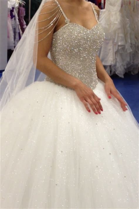 Robe De Mariée Princesse Bustier Paillette - robe de mari 233 e strass et paillette pas cher