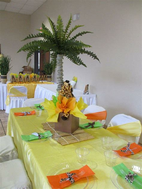 baby shower decorations jungle theme 25 best ideas about safari theme centerpieces on