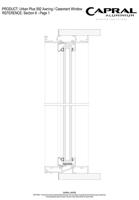 Awning Window Detail by Aluminium Awning Casement Window Plus 592 Capral