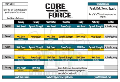 printable ufc schedule mma circuit training workouts pdf circuit and schematics