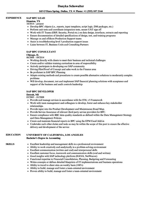 Sap Bpc Resume Samples resume classes online project manager resume objective