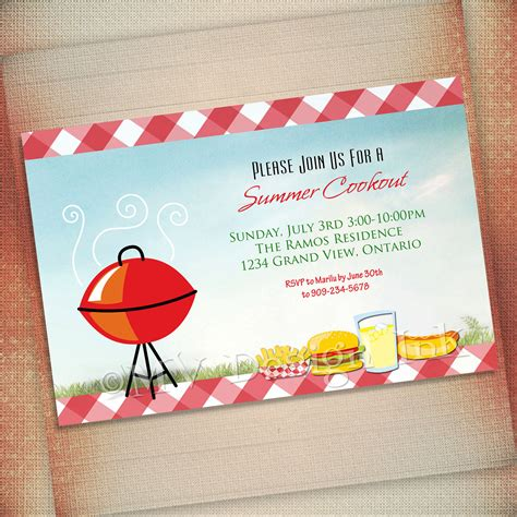 free templates for cookout invitations cookout cliparts