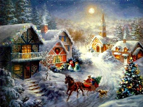wallpaper christmas scenes christmas wallpapers christmas wallpaper 2619622 fanpop