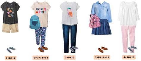 Back To School Wardrobe by Back To School Capsule Wardrobe Mix And Match