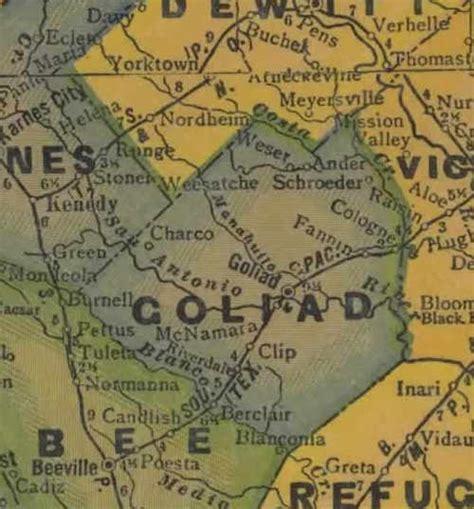 goliad texas map goliad county texas