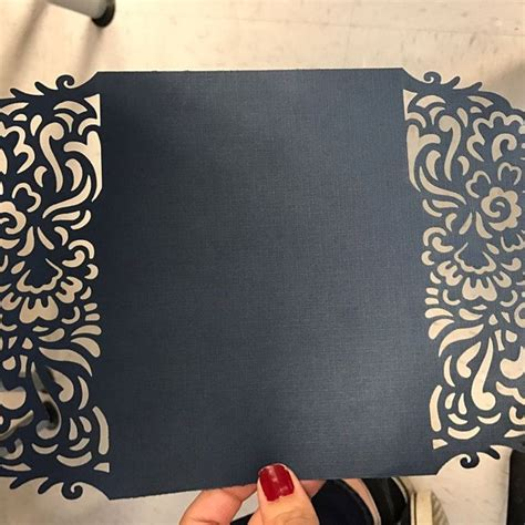 cricut using card templates gate foldwedding invitation lasercut cricut template