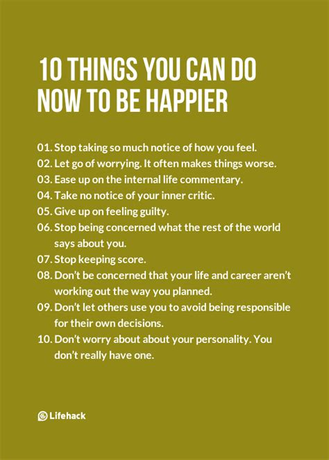 10 things you can do now to be happier