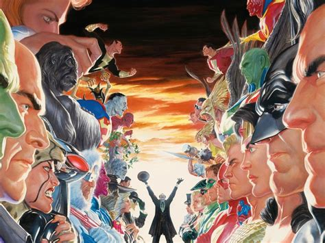 absolute justice league the 140127370x absolute justice wallpaper dc alex ross comic art community gallery of comic art comic book