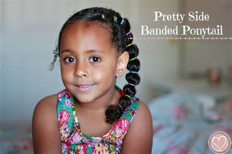 hair styles for bi racial kids biracial kids hairstyles pretty side banded ponytail