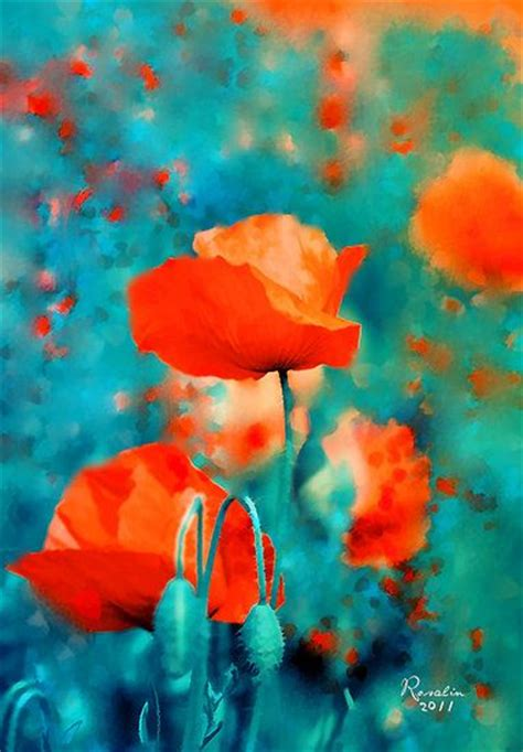 orange and turquoise poppy painting kitchen color inspiration fashion lifestyle 1one