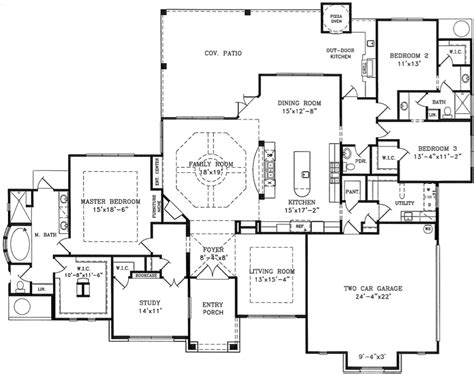 1 story home floor plan custom home building remodeling