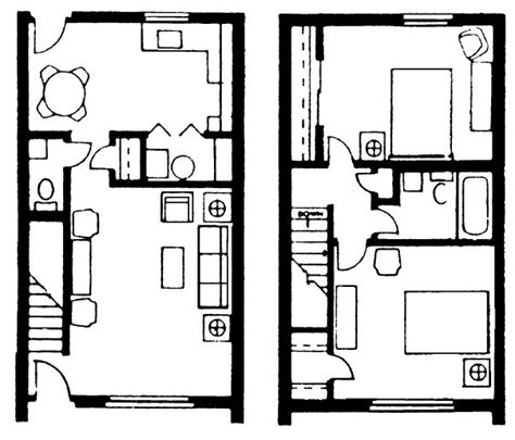 two bedroom townhouse plans 2 bedroom townhouse floor plan house plans pinterest