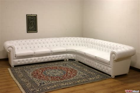Chesterfield Leather Corner Sofa With Round Corner Corner Chesterfield Sofa