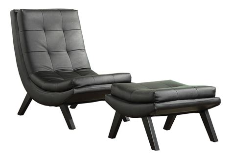 black leather chair and ottoman set tustin lounge chair and ottoman set with black fuax