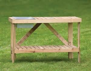 Garden Bench Teak Potting Bench
