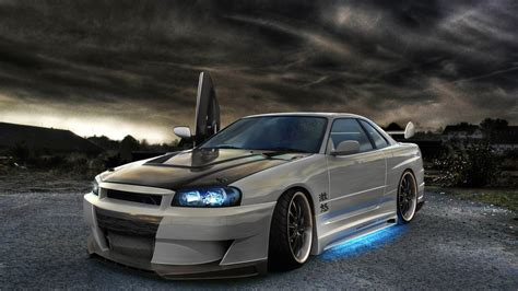 tuned r34 nissan skyline gtr r34 tuning wallpaper 1920x1080