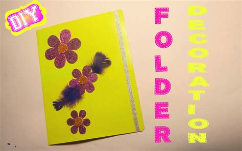 Handmade File Folder Designs - kako dekorisati fasciklu folder decoration