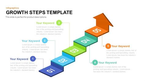 stepping design templates growth steps template