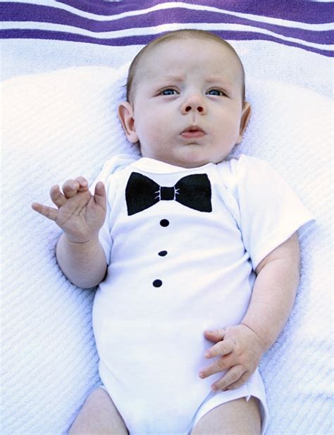 tuxedo onesie by rockaby baby baby shower gifts