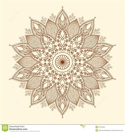 mandala beautiful hand drawn flower stock vector