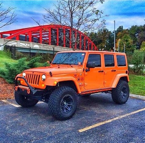 jeep wrangler 4 door orange orange 4 door jeep jk jeep 0 0