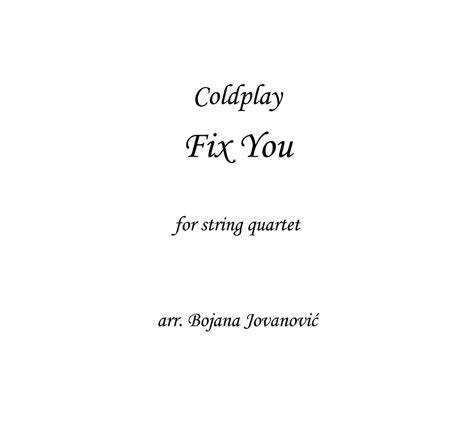 fix you coldplay mp3 download flvto fix you sheet music coldplay for string quartet