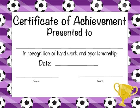 free templates for soccer certificates soccer certificate of participation soccer award print at