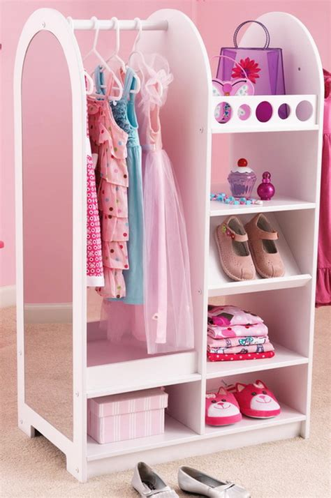 new wooden closet shelf system play dress up storage