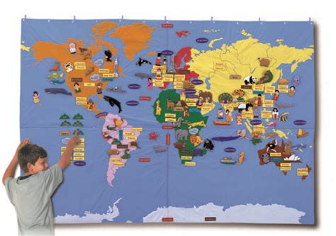 children s interactive world map