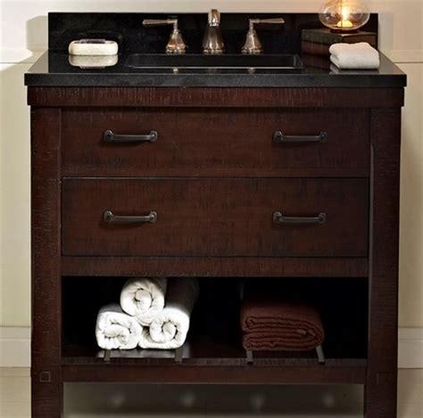 napa 36 open shelf vanity aged cabernet fairmont