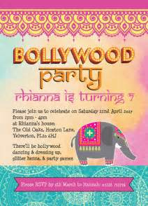bollywood children s party invitation from 163 0 80 each