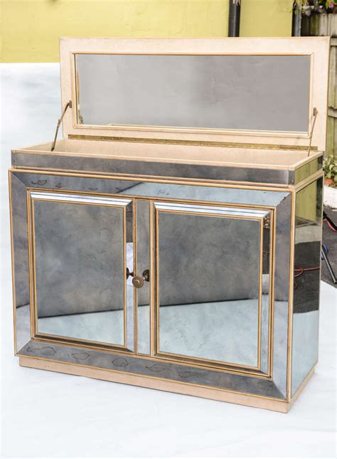 Mirrored Bar Cabinet Mirrored Bar Cabinet At 1stdibs
