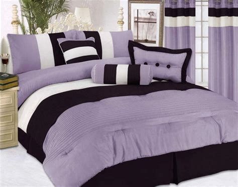 ebay bedding sets 7 pcs modern satin bedding comforter set queen purple ebay