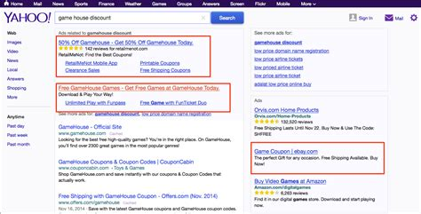 Search No Ads Who Placed That Ad Yahoo Experiments With No Display Url In Ppc Ads Search Engine