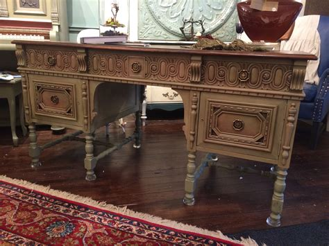 sold antique carved walnut desk kathie design