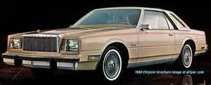 80s Chrysler Cars 1980 Chrysler Cars Lebaron Newport New Yorker Cordoba