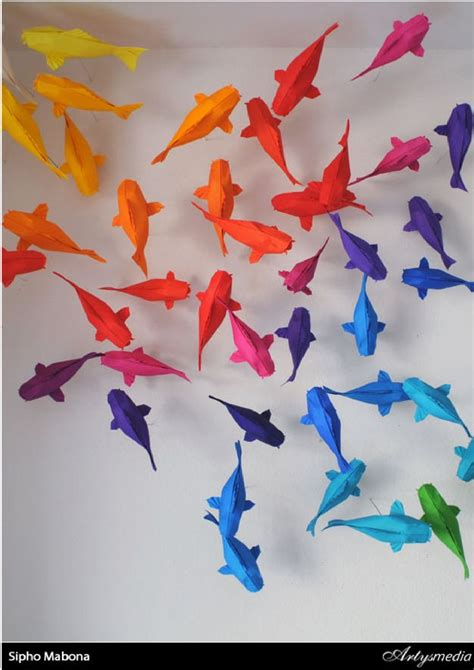Origami Koi Fish Diagram -