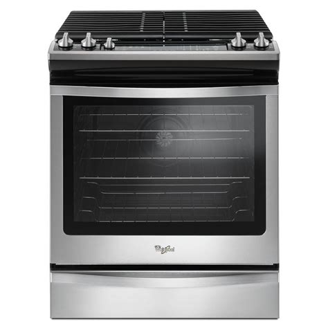 whirlpool gas range reviews whirlpool 5 8 cu ft slide in gas range with center oval