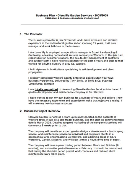 professional business plan template sle professional business plan 6 documents in pdf
