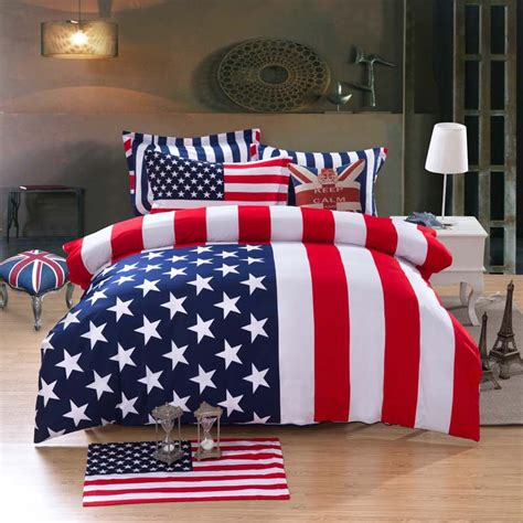 American Flag Bed Set Shop Popular American Flag Bedding From China Aliexpress