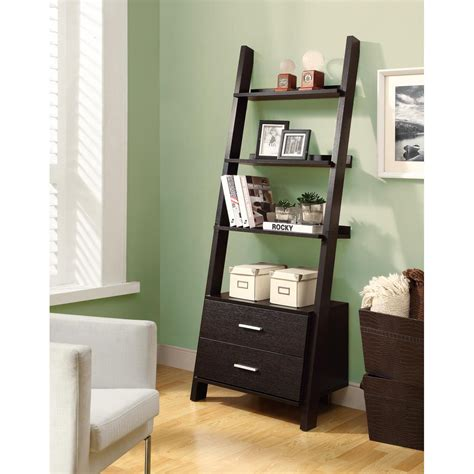 leaning ladder bookcase with drawers thesecretconsul
